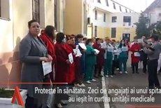 Proteste în întreg sistemul sanitar. Angajaţii se plâng de plafonarea sporurilor