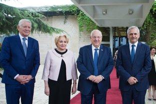 Dragnea şi Dăncilă, împreună la întâlnirea cu preşedintele Israelului. Mesajul transmis de şeful PSD privind relocarea ambasadei la Ierusalim