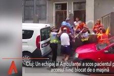 Scene incredibile la Cluj. Un pacient, scos peste gard, deoarece accesul era blocat de o maşină