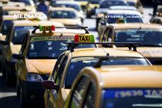 Protest al taximetriştilor în Piaţa Constituţiei din Capitală