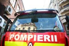 Un camion cu ciment a luat foc în comuna Ciorani din judeţul Prahova, iar rezervorul a explodat