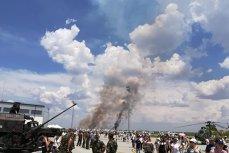 Un avion militar MiG 21 LanceR S-A PRĂBUŞIT la Călăraşi. Pilotul a murit carbonizat VIDEO