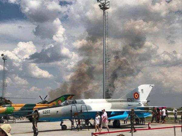 MiG 21 LanceR prăbuşit în judeţul Călăraşi