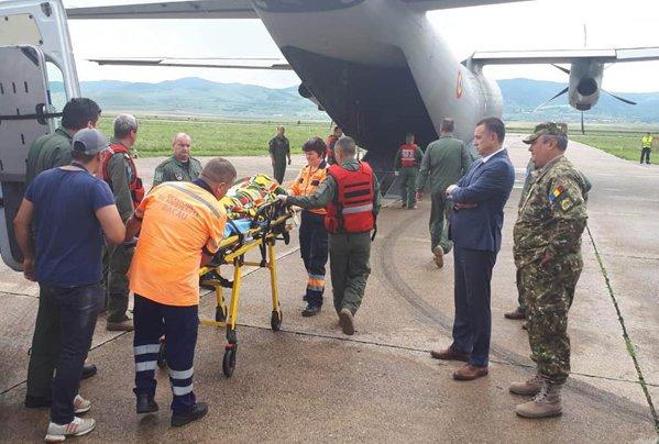 Al doilea pilot al avionului IAR 99 prăbuşit la Bacău e transpoortat la spitalul din Bucureşti
