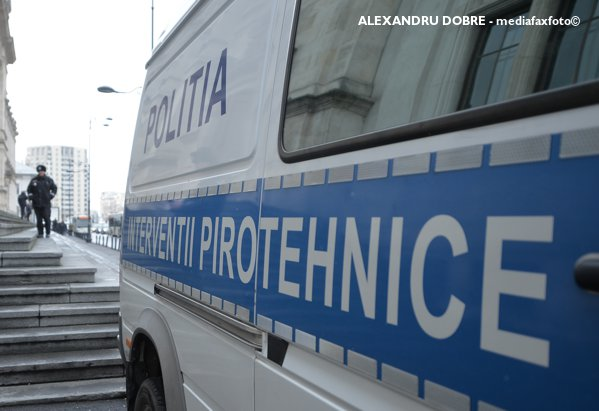 Control pirotehnic Poliția română