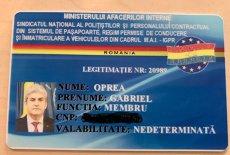 GABRIEL OPREA, membru într-un sindicat al poliţiştilor. Are şi legitimaţie!