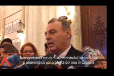 Transportatorii cer DEMISIA lui Lucian Şova şi vor organiza proteste:  Ministrul Transporturilor nu militează în niciun fel pentru soluţionarea problemelor