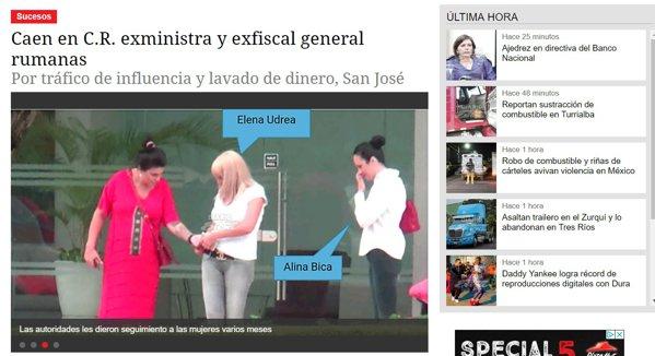 Elena Udrea și Alina Bica, filate de Poliția din Costa Rica. foto: diarioextra.com