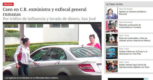 Alina Bica, filată de Poliția din Costa Rica. foto: diarioextra.com