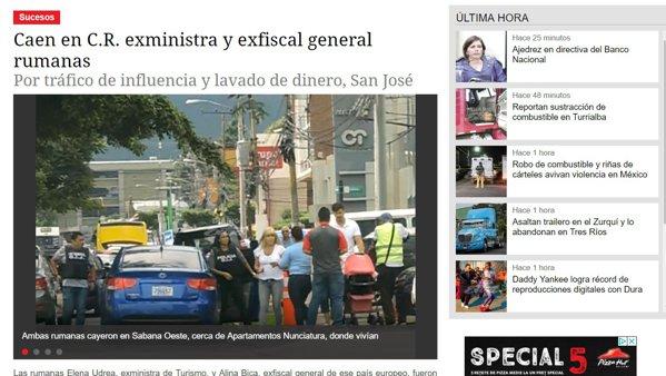 Elena Udrea, reținută de polițiștii din Costa Rica. foto: diarioextra.com