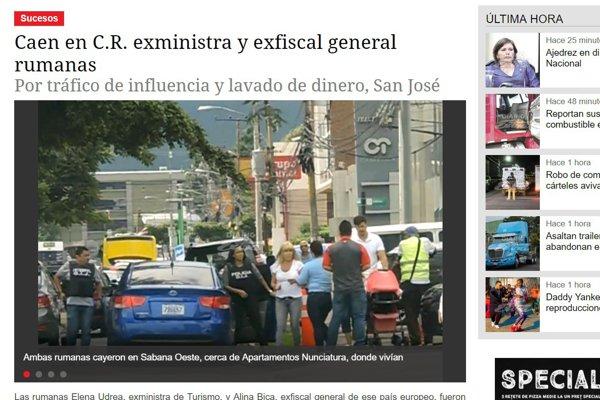 Imagine de la reținerea Elenei Udrea în Costa Rica