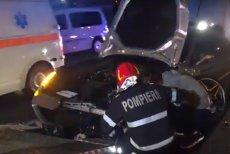 A FĂCUT PRAF un Ferrari de 150.000 de euro, la intrarea în Bucureşti. S-a înfipt ÎN PARAPET după ce a pierdut o roată