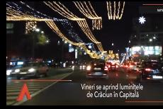 Se aprind LUMINIŢELE DE CRĂCIUN în Bucureşti. 9 milioane de beculeţe pentru iluminatul festiv