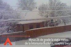 MINUS 26 DE GRADE la Întorsura Buzăului, cea mai scăzută temperatura din acest sezon. În Capitală revin NINSORILE