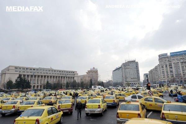 PROTESTUL taximetriştilor din Bucureşti vine cu RESTRICŢII de circulaţie