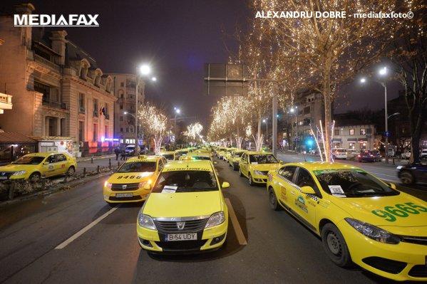 PROTESTUL taximetriştilor din Bucureşti vine cu RESTRICŢII de circulaţie (1)