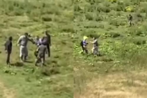 Belgian snopit în bătaie de un grup de ciobani din Bistriţa-Năsăud. A vrut să-şi ceară scuze şi s-a ales cu lovituri crunte - VIDEO
