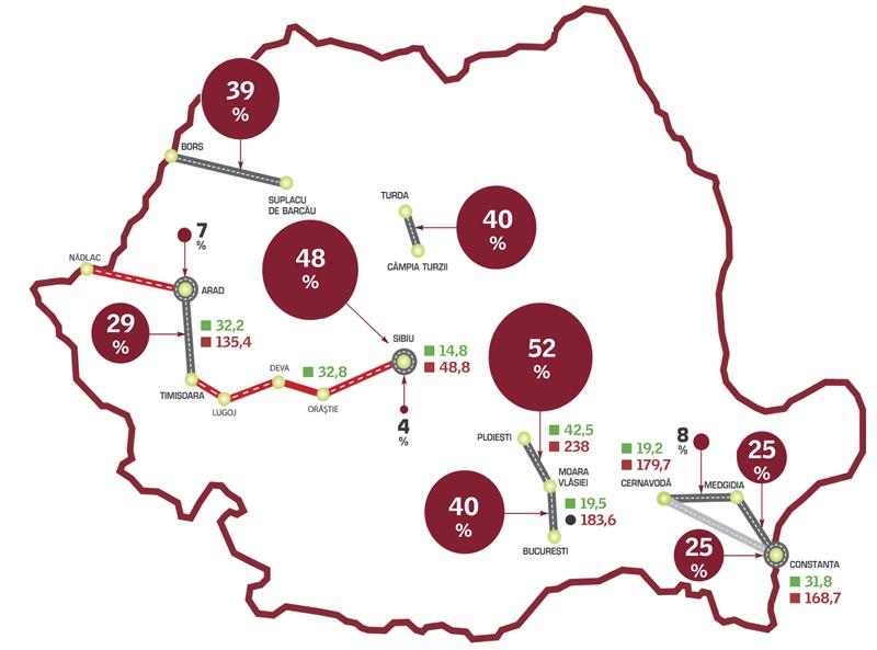 HARTA AUTOSTRĂZILOR DIN ROMÂNIA. Pe unde promite Anca Boagiu că vom avea 530 km de autostradă - EXCLUSIV