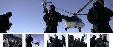 UN POLIŢIST DE FRONTIERĂ DIN PATRU ESTE CERCETAT PENTRU CORUPŢIE. Filmul arestării cu elicopterul a două puncte vamale