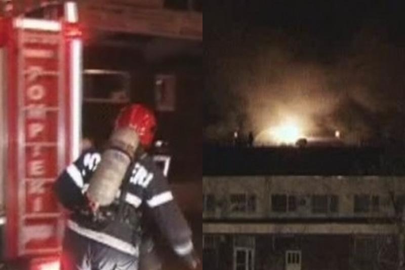 INCENDIU LA IAŞI. Un complex comercial s-a prăbuşit, iar doi pompieri au suferit arsuri şi au fost intoxicaţi. FOTO+VIDEO