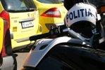 Un poliţist pe motocicletă a fost rănit într-un accident rutier produs în Capitală