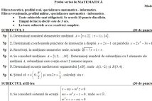 SUBIECTE BAC 2012 - MODEL MATEMATICA M1, M2