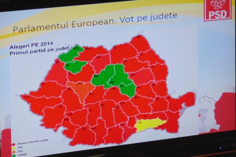 Ponta vrea sa coloreze Romania in rosu in 2016. Rus: Nu am mai castigat la Cluj dinainte de 1989, cand era domnul Iliescu deputat