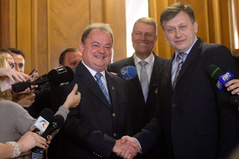 Iohannis, Antonescu si Blaga - INTALNIRE in Kiseleff