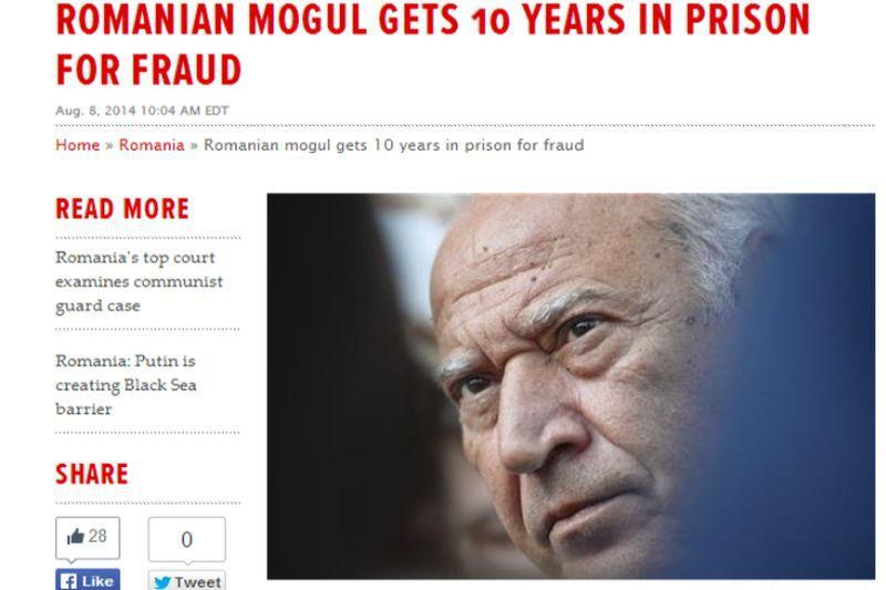 ,,Mogulul media roman, condamnat la 10 ani de inchisoare