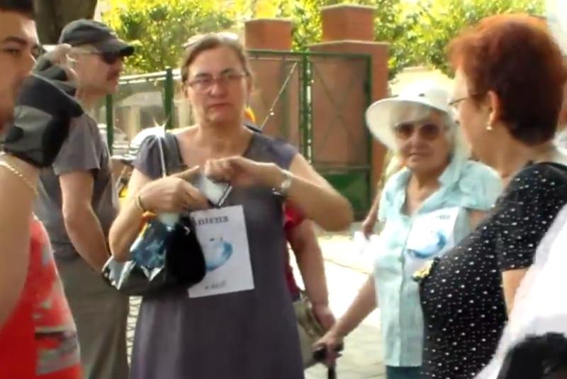 Europarlamentarul Maria Grapini, foarte agresiva cu un jurnalist timisorean, in timpul ,,plimbarii