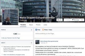 """TEST: Câte greşeli identificaţi în ultima postare de pe Facebook a Mariei Grapini? """"Să nu uităm să dedicăm zilnic timp gândirii!"""""""