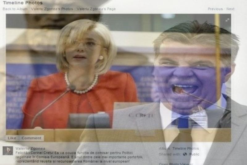 Zgonea s-a bucurat pe Facebook fara sa aiba voie: Corina Cretu va ocupa functia de comisar pentru Politici Regionale. Postarea a disparut ulterior
