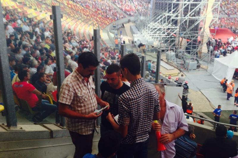 FOTOGRAFII EXCLUSIVE de pe National Arena. Ce nu a vazut nimeni in timpul lansarii lui Ponta. Iata cum s-au impartit banii
