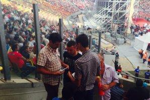 FOTOGRAFII EXCLUSIVE de pe Naţional Arena. Ce nu a văzut nimeni în timpul lansării lui Ponta. Iată cum s-au împărţit banii