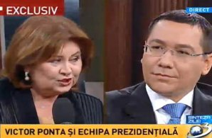 """NOAPTEA LIMBILOR LUNGI. Florina Cercel, odă conducătorului, la Antena3: """"Domnule Ponta, m-am simţit brusc bine când am dat mâna. Sunt senzitivă şi simt aura oamenilor. Ferice de mama care v-a născut!"""""""