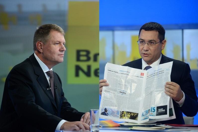Klaus Iohannis merge diseara la B1 TV, pentru DEZBATEREA FINALA cu Victor Ponta
