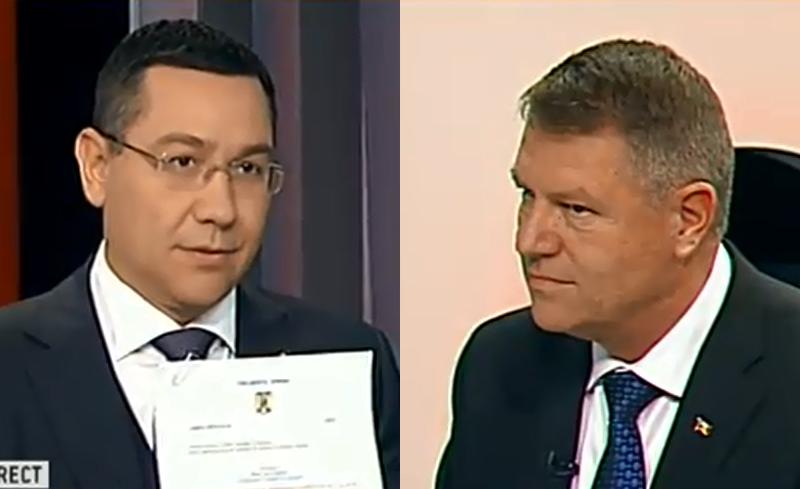 Iohannis si Ponta s-au inteles: Modificam Constitutia