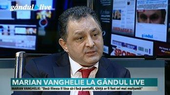 Marian Vanghelie, la GÂNDUL LIVE: Dacă Ponta ar fi câştigat alegerile, ar fi fost un pericol pentru România