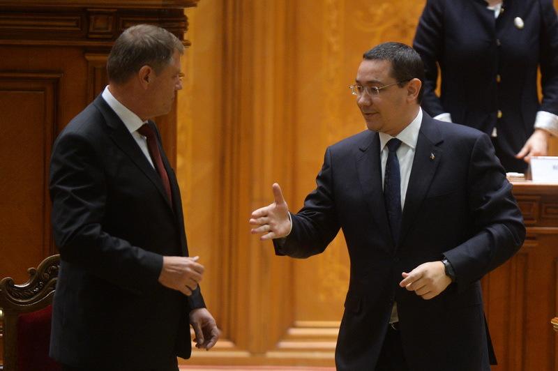 Presedintie: Ponta si Iohannis se intalnesc in aceasta seara pentru a decide numele noului ministru al Finantelor