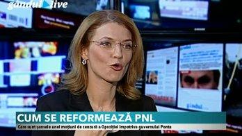 Alina Gorghiu, la GÂNDUL LIVE, despre schimbarea majorităţii parlamentare. Ce negociază PNL cu UDMR şi UNPR