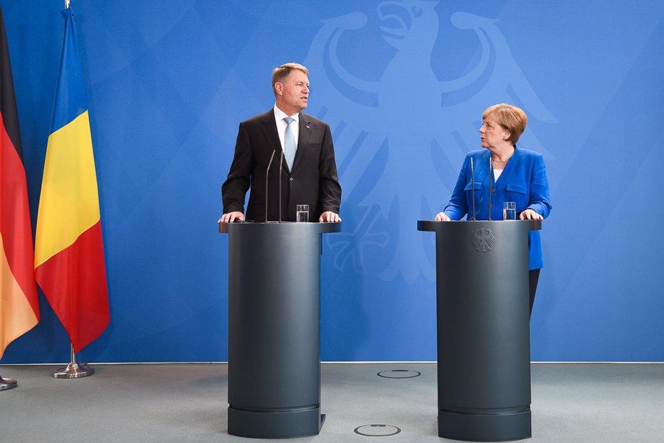 Iohannis: I-am spus lui Merkel despre criza de la Bucureşti, dar România e o ţară solidă