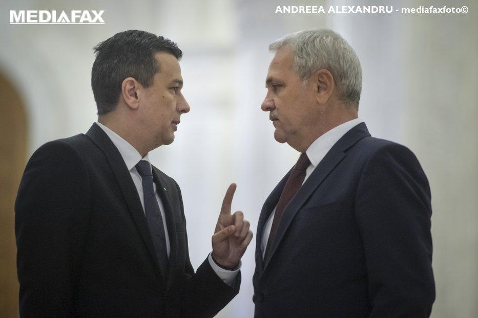Care este scorul în meciul Dragnea-Grindeanu. Parlamentarii pe care se bazează liderul PSD şi cine-l susţine pe premier