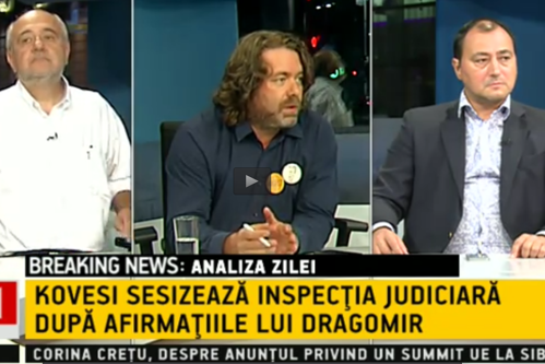 Senatorul Mihai Goţiu a fost BĂTUT de sociologul Mirel Palada, în platoul unei televiziuni