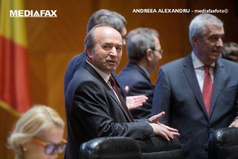 Tudorel Toader, discuţii pe Legile justiţiei cu Tăriceanu, în biroul preşedintelui Senatului
