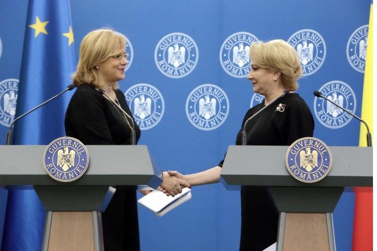 """După întâlnirea cu Viorica Dăncilă, Corina Creţu trage un semnal de alarmă: """"România riscă pierderea unor fonduri europene importante"""