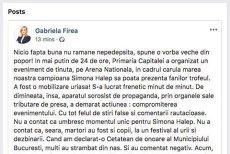 Pagina de Facebook a Gabrielei Firea a fost redeschisă