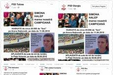 Organizaţii PSD, despre Simona Halep: Huiduită pe Arena Naţională, aplaudată la mitingul PSD