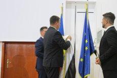 Viorica Dăncilă uită numele premierului din Estonia. Organizatorii arborează drapelul invers