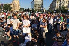 Şase protestatari din Piaţa Victoriei au fost ridicaţi de jandarmi şi amendaţi. Carosabilul a fost eliberat