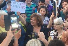 Ana Blandiana proteste modificări legislaţie penală prin OUG Piata Victoriei